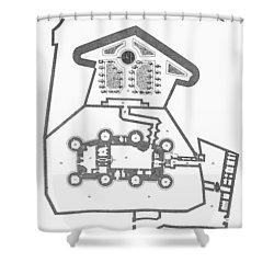 Plan Of The Bastille Shower Curtain by Granger