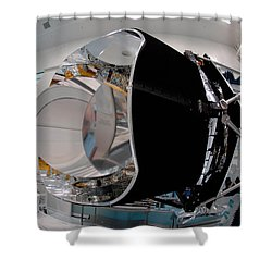 Shower Curtain featuring the photograph Planck Space Observatory Before Launch by Science Source