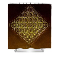 Planck Space Time  Shower Curtain by Jason Padgett