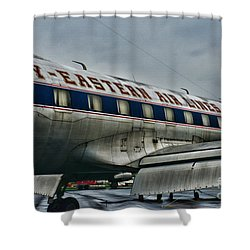 Plane Fly Eastern Air Lines Shower Curtain by Paul Ward