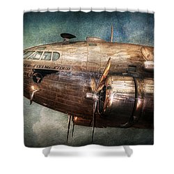 Plane - Pilot - The Flying Cloud  Shower Curtain by Mike Savad