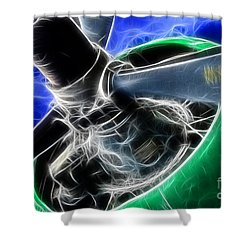 Plane Propeller Shower Curtain by Paul Ward