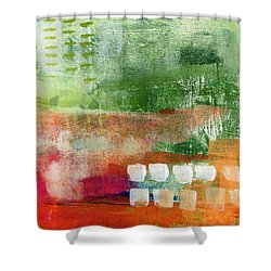 Plantation- Abstract Art Shower Curtain by Linda Woods