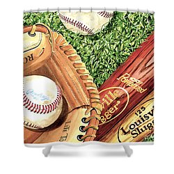 Play Ball Shower Curtain by Rick Mock