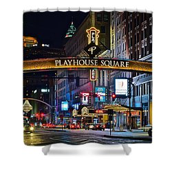 Playhouse Square Shower Curtain by Frozen in Time Fine Art Photography