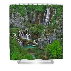 Plitvice Shower Curtain by Ivan Slosar