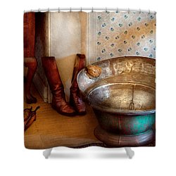 Plumber - Bath Day Shower Curtain by Mike Savad