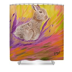 Plunge Into Your Painting Shower Curtain by Meryl Goudey