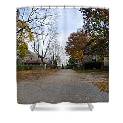 Plymouth Meeting Friends In Autumn Shower Curtain by Bill Cannon