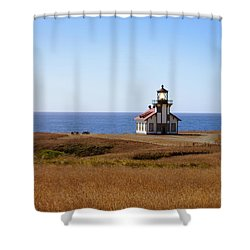Point Cabrillo Light House Shower Curtain by Abram House