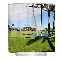 Poipu Bay #18 Shower Curtain by Scott Pellegrin
