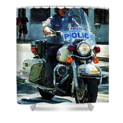 Police - Motorcycle Cop Shower Curtain by Susan Savad