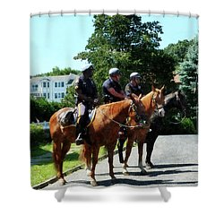 Policeman - Mounted Police Profile Shower Curtain by Susan Savad