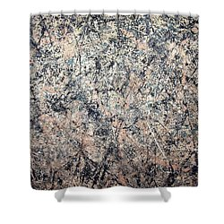 Pollock's Number 1 -- 1950 -- Lavender Mist Shower Curtain by Cora Wandel