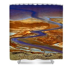 Pollution Shower Curtain by James Brunker