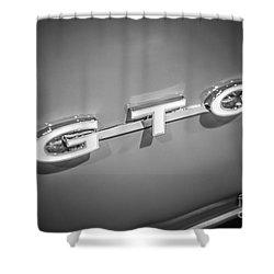 Pontiac Gto Emblem Shower Curtain by Paul Velgos