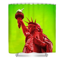 Pop Art Liberty Shower Curtain by Mike McGlothlen