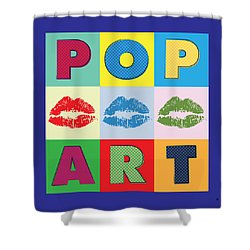 Pop Art Lips Shower Curtain by Gary Grayson