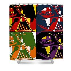 Pop Art Vader Shower Curtain by Dale Loos Jr