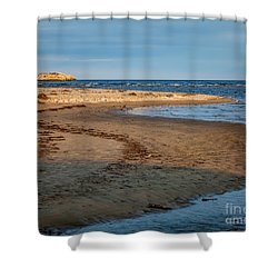 Popham Beach Curve Shower Curtain by Susan Cole Kelly