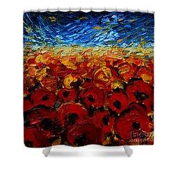 Poppies 2 Shower Curtain by Mona Edulesco