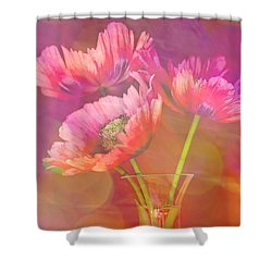 Poppy Passion Shower Curtain by Jan Bickerton
