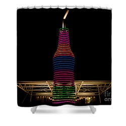 Pop's On Route 66 Shower Curtain by Robert Frederick