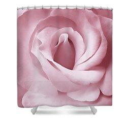 Porcelain Pink Rose Flower Shower Curtain by Jennie Marie Schell