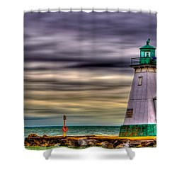Port Dalhousie Lighthouse Shower Curtain by Jerry Fornarotto