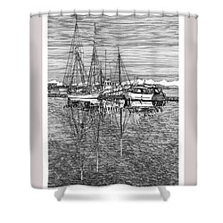 Reflections Of Port Orchard Washington Shower Curtain by Jack Pumphrey