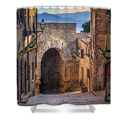 Porta Dell'arco Shower Curtain by Inge Johnsson