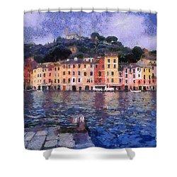 Portofino In Italy Shower Curtain by George Atsametakis