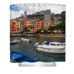 Portovenere Shower Curtain by Dany Lison