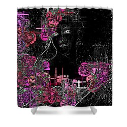 Portrait In Black - S01-02b Shower Curtain by Variance Collections
