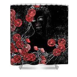 Portrait In Black - S0201b Shower Curtain by Variance Collections