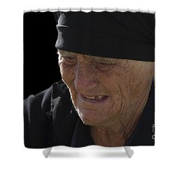 Portrait Of A Fishermans Wife Shower Curtain by Heiko Koehrer-Wagner