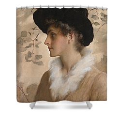 Portrait Of A Lady 1888 Shower Curtain by George Henry Boughton