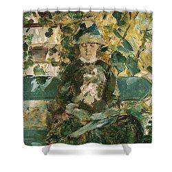Portrait Of Adele Tapie De Celeyran Shower Curtain by Henri de Toulouse-Lautrec
