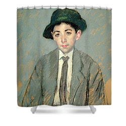 Portrait Of Charles Dikran Kelekian Shower Curtain by Mary Stevenson Cassatt