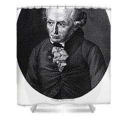 Portrait Of Emmanuel Kant  Shower Curtain by German School