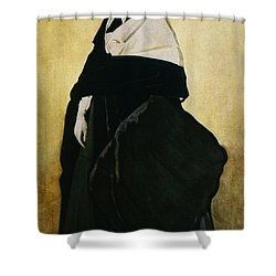 Portrait Of Ida Lvovna Rubinstein Shower Curtain by Leon Bakst