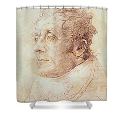 Portrait Of Jmw Turner Shower Curtain by Cornelius Varley