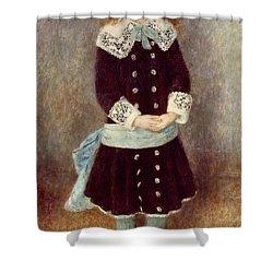Portrait Of Martha Berard Shower Curtain by Pierre-Auguste Renoir