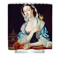 Portrait Of Peg Woffington Shower Curtain by Jean-Baptiste van Loo
