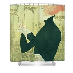 Portrait Of Sarah Bernhardt Shower Curtain by Manuel Orazi