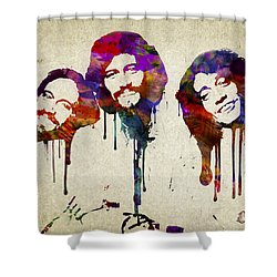 Portrait Of The Bee Gees Shower Curtain by Aged Pixel