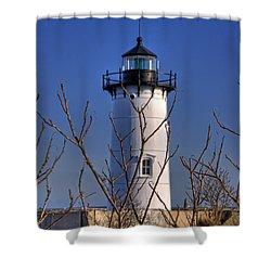 Portsmouth Harbor Light 3 Shower Curtain by Joann Vitali