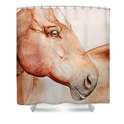 Posing Shower Curtain by Tamer and Cindy Elsharouni