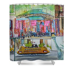 Postcards From New York City Shower Curtain by Jack Diamond