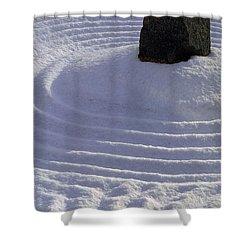 Powder In Zen One Shower Curtain by Feile Case
